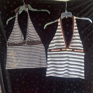 2 Nautical Tankini tops 1 new w/tags 1 new w/out